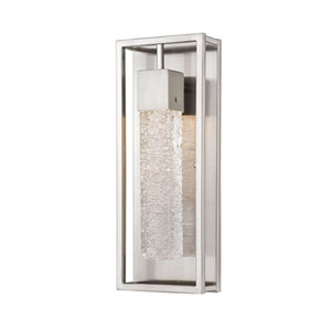 Brushed Nickel One-Light Wall Sconce with Ice Glass