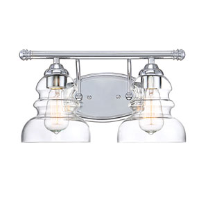 Chrome Two-Light Vanity