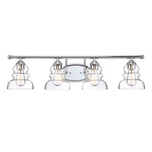 Chrome Four-Light Vanity