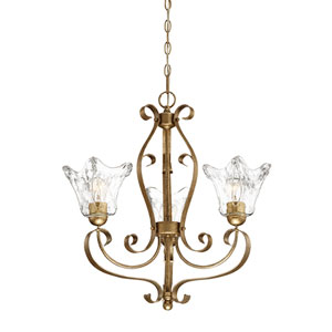 Chatsworth Vintage Gold Three-Light Chandelier