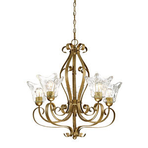 Chatsworth Vintage Gold Five-Light Chandelier