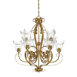 Chatsworth Vintage Gold Nine-Light Chandelier