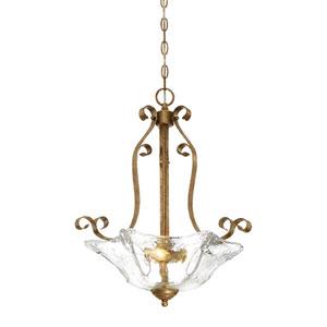 Chatsworth Vintage Gold Three-Light Pendant