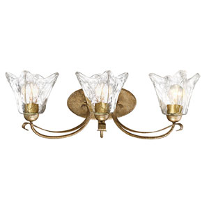 Chatsworth Vintage Gold Three-Light Vanity