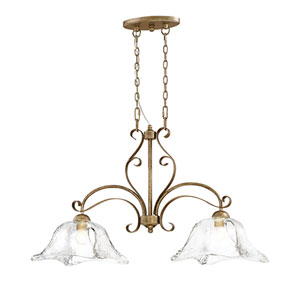 Chatsworth Vintage Gold Two-Light Island Pendant