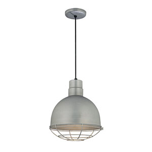 R Series Galvanized 12-Inch Outdoor Cord Pendant with Wire Guard