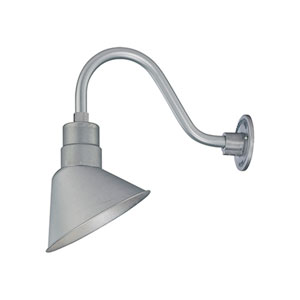 R Series Galvanized 10-Inch Angle Shade Only