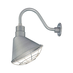 R Series Galvanized 12-Inch Angle Shade Only