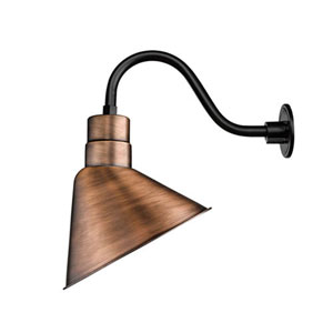 R Series Natural Copper One-Light Angle Shade