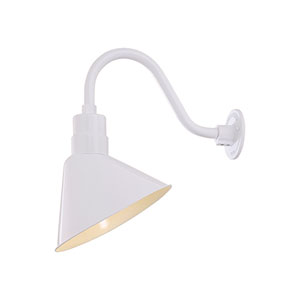 R Series White 12-Inch Angle Shade Only