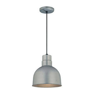 R Series Galvanized 10-Inch Outdoor Cord Pendant