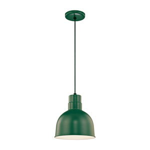 R Series Satin Green 10-Inch Outdoor Cord Pendant