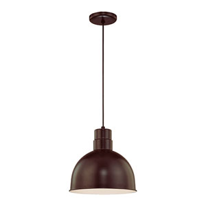 R Series Architectural Bronze 12-Inch Outdoor Cord Pendant
