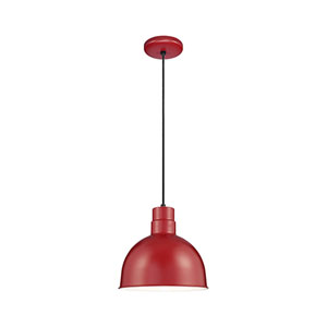 R Series Satin Red 12-Inch Outdoor Cord Pendant