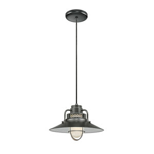 R Series Satin Black 14-Inch Outdoor Cord Pendant