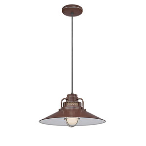 R Series Architectural Bronze 18-Inch Outdoor Cord Pendant