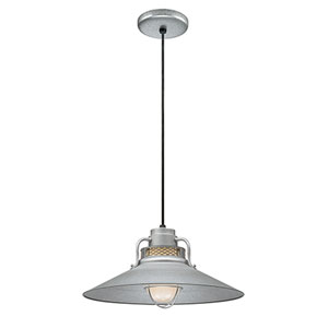 R Series Galvanized 18-Inch Outdoor Cord Pendant