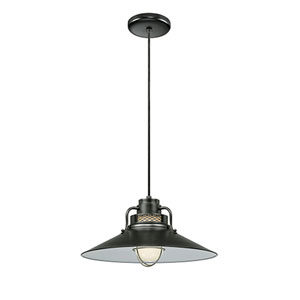 R Series Satin Black 18-Inch Outdoor Cord Pendant