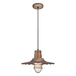 R Series Copper 15-Inch Outdoor Cord Radial Wave Pendant