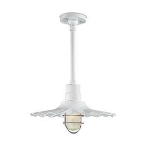R Series White 18-Inch Outdoor Radial Wave Pendant Shade Only