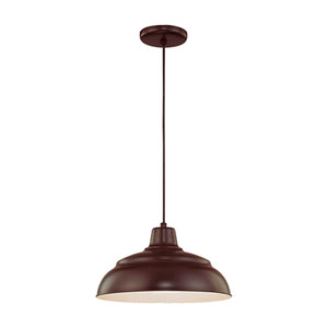 R Series Architectural Bronze 14-Inch Warehouse Cord Hung Outdoor Pendant