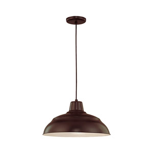 R Series Architectural Bronze 17-Inch Warehouse Cord Hung Outdoor Pendant