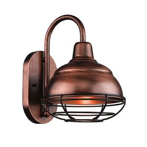 R Series Natural Copper One-Light Outdoor Wall Bracket