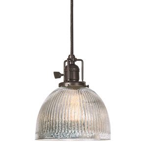Union Square Oil Rubbed Bronze One-Light Mini Pendant with Mercury Glass