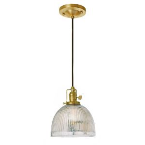 Union Square Satin Brass Mercury Pressed Seven-Inch One-Light Mini Pendant