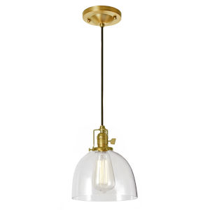 Union Square Satin Brass Seven-Inch One-Light Mini Pendant