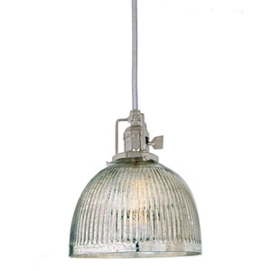 Union Square Polished Nickel One-Light Mini Pendant with Mercury Glass