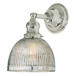 Union Square Polished Nickel One-Light Wall Sconce with Mercury Glass