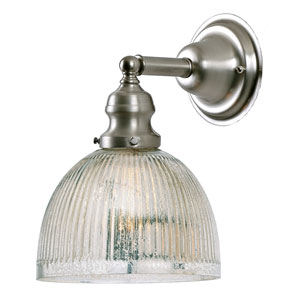 Union Square Satin Nickel One-Light Wall Sconce with Mercury Glass