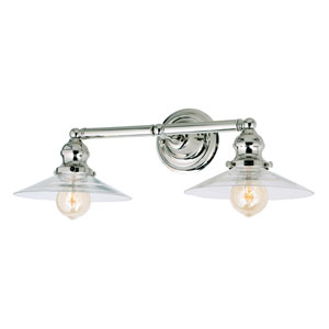 Union Square Polished Nickel Two-Light Bath Vanity