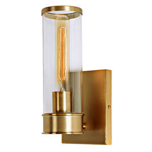 Gramercy Satin Brass One-Light Wall Sconce