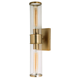 Gramercy Satin Brass Two-Light Wall Sconce