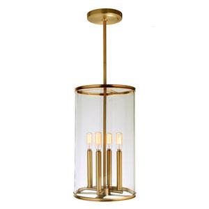 Gramercy Satin Brass Four-Light Pendant