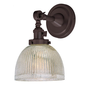 Soho Oil Rubbed Bronze One-Light Wall Sconce with Mercury Glass