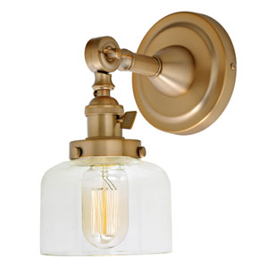 Soho Satin Brass One-Light Wall Sconce
