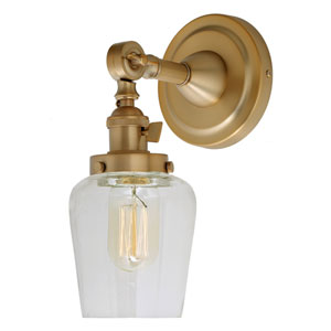 Soho Satin Brass One-Light Wall Sconce