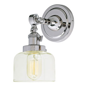 Soho Polished Nickel One-Light Wall Sconce