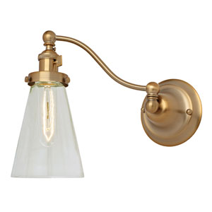 Soho Satin Brass One-Light Swing Arm Wall Sconce