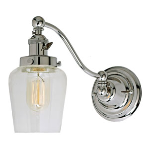 Soho Polished Nickel One-Light Swing Arm Wall Sconce
