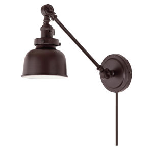 Soho M2 Oil Rubbed Bronze One-Light Double Swivel Swing Arm Wall Sconce