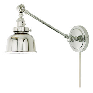 Soho M2 Polished Nickel One-Light Double Swivel Swing Arm Wall Sconce