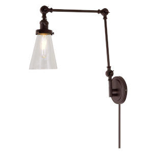 Soho Barclay Oil Rubbed Bronze One-Light Swing Arm Wall Sconce