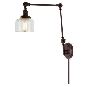 Soho Shyra Oil Rubbed Bronze One-Light Swing Arm Wall Sconce