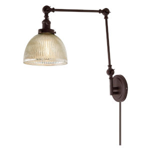 Soho Madison Oil Rubbed Bronze One-Light Swing Arm Wall Sconce