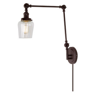 Soho Liberty Oil Rubbed Bronze One-Light Swing Arm Wall Sconce