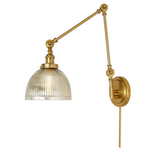 Soho Madison Satin Brass One-Light Swing Arm Wall Sconce
